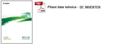 Pliant date tehnice 2013 - DC INVERTER